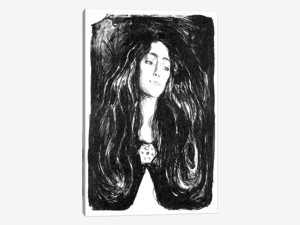 The Brooch, Eva Mudocci, 1903 by Edvard Munch 1-piece Canvas Wall Art