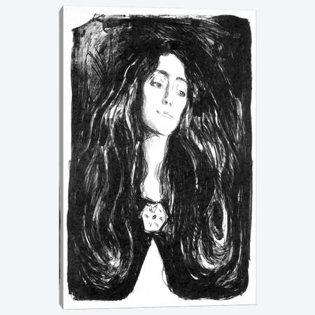 The Brooch, Eva Mudocci, 1903 Canvas Print #15227} by Edvard Munch Art Print
