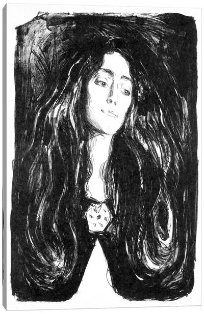 The Brooch, Eva Mudocci, 1903 Canvas Art Print
