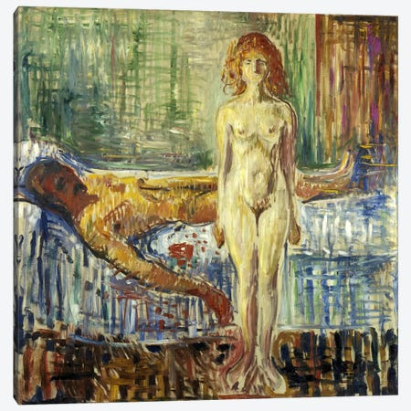 Death of Marat II, 1907 Canvas Print #15228} by Edvard Munch Canvas Wall Art