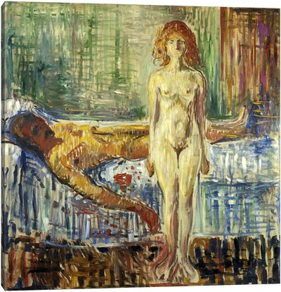 Death of Marat II, 1907 by Edvard Munch Canvas Wall Art