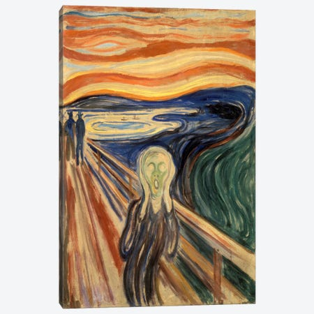 The Scream, 1893 Canvas Print #15229} by Edvard Munch Canvas Artwork