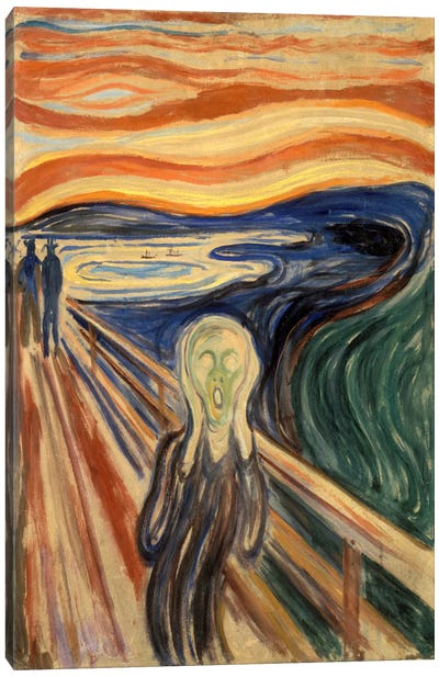 The Scream, 1893 by Edvard Munch Canvas Artwork