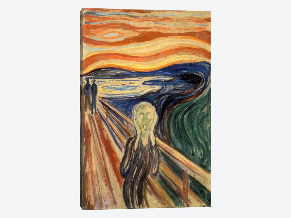 The Scream, 1910 by Edvard Munch 1-piece Canvas Art