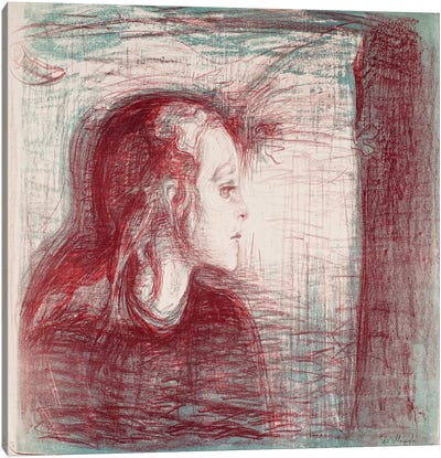 The Sick Child II, 1896 by Edvard Munch Art Print