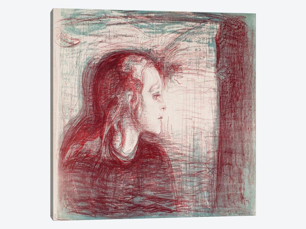 The Sick Child II, 1896 by Edvard Munch 1-piece Canvas Art