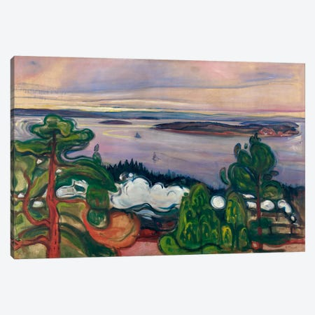 Train Smoke, 1900 Canvas Print #15232} by Edvard Munch Canvas Print