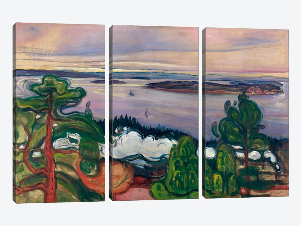 Train Smoke, 1900 by Edvard Munch 3-piece Canvas Art