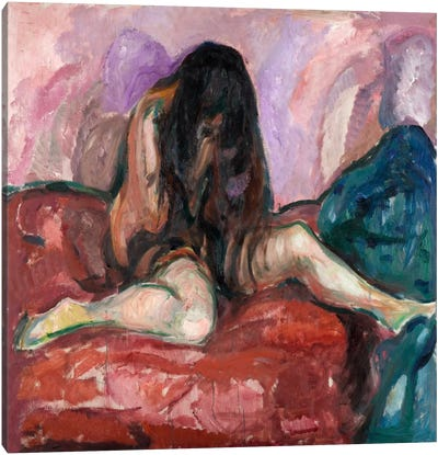 Weeping Nude, 1914 Canvas Art Print