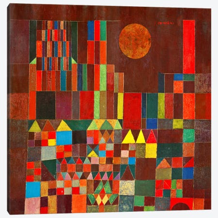 Burg und Sonne, 1928 Canvas Print #15235} by Paul Klee Canvas Art