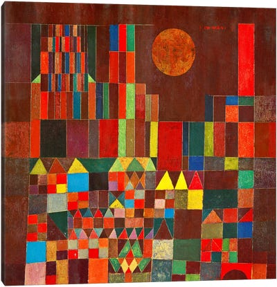 Burg und Sonne, 1928 by Paul Klee Canvas Art