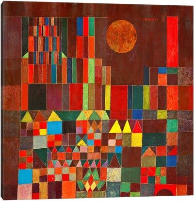 Burg und Sonne, 1928 Canvas Art Print