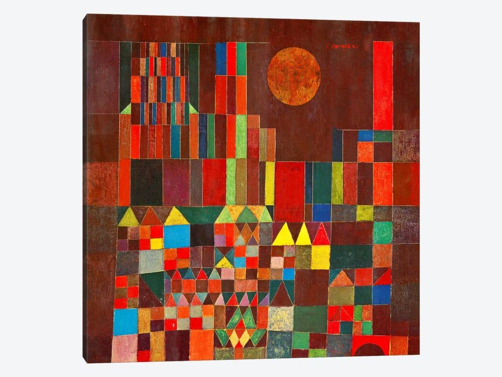 Burg und Sonne, 1928 by Paul Klee 1-piece Art Print