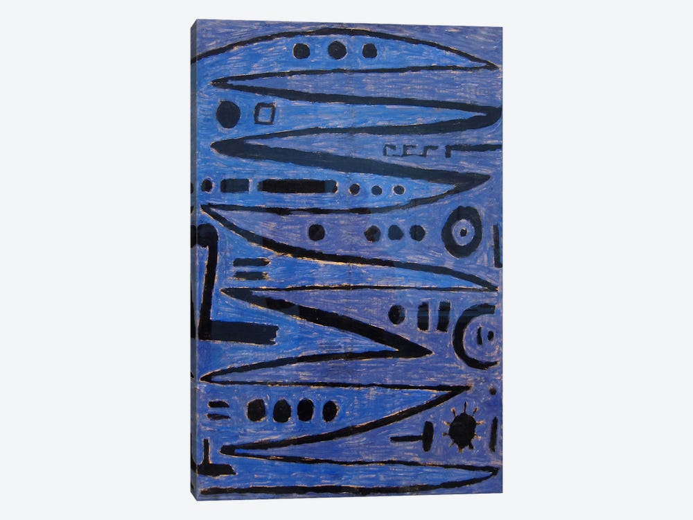 Heroic Strokes of the Bow, 1938 by Paul Klee 1-piece Canvas Art