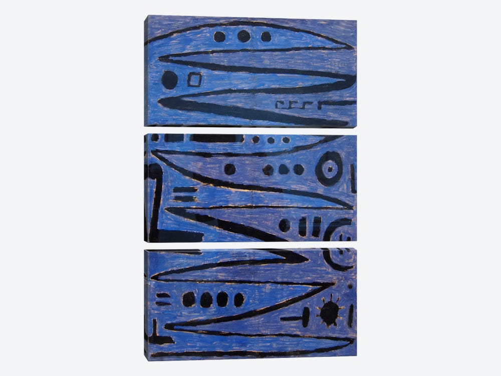 Heroic Strokes of the Bow, 1938 by Paul Klee 3-piece Canvas Art