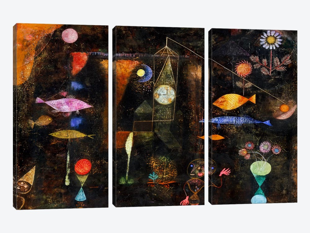 Fish Magic, 1925 by Paul Klee 3-piece Art Print