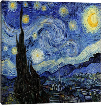 The Starry Night Canvas Print #1523
