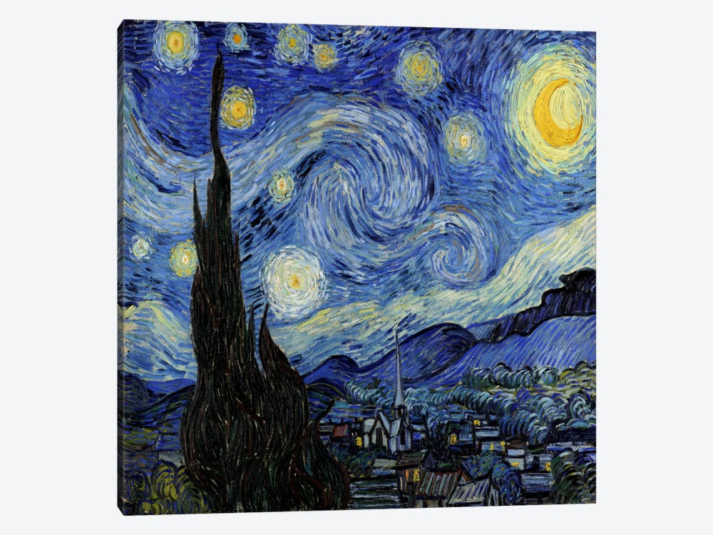 The Starry Night by Vincent van Gogh 1-piece Canvas Print