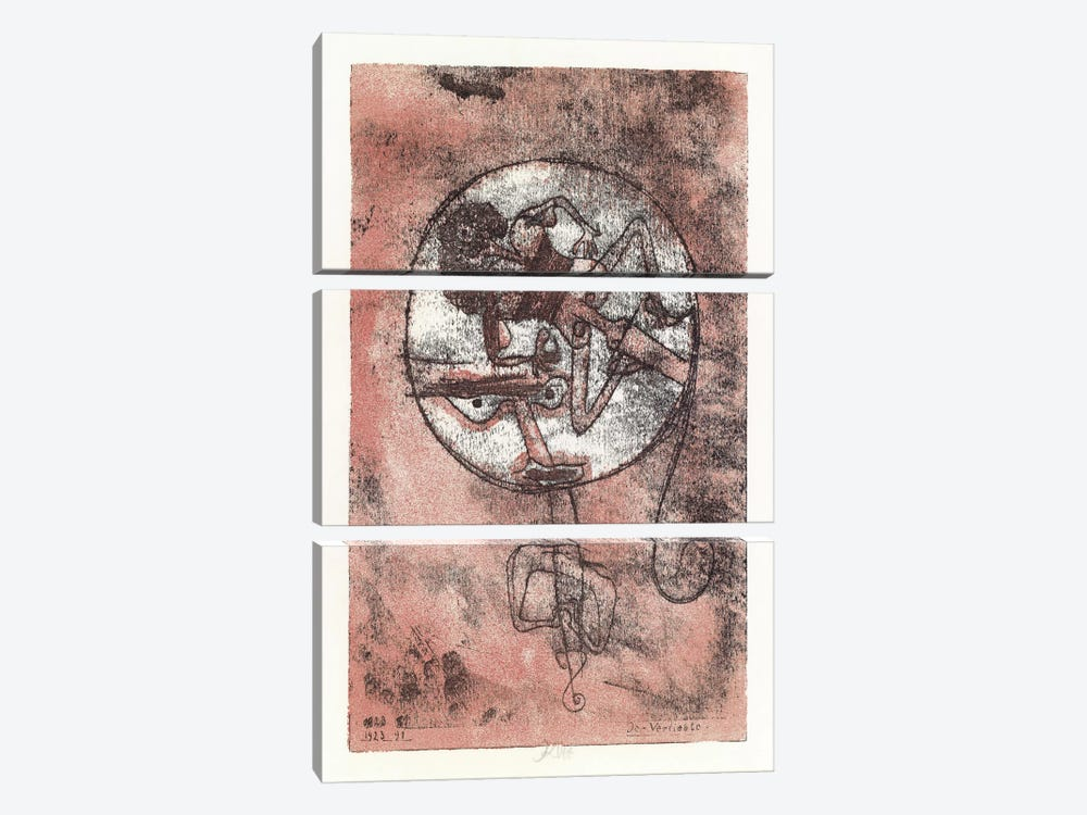 The Lovers, 1923 by Paul Klee 3-piece Canvas Art Print