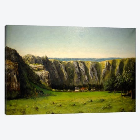 The Rock of Ten Hours, 1855 Canvas Print #15256} by Gustave Courbet Canvas Wall Art