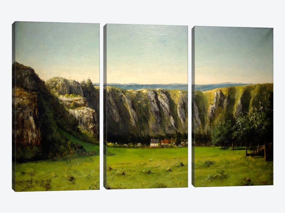 The Rock of Ten Hours, 1855 by Gustave Courbet 3-piece Canvas Artwork