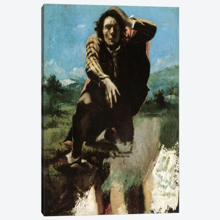 The Man Made Mad by Fear, 1844 Canvas Print #15257} by Gustave Courbet Canvas Art