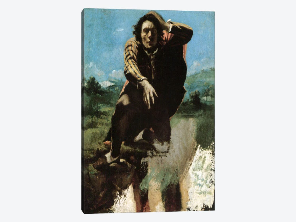 The Man Made Mad by Fear, 1844 by Gustave Courbet 1-piece Art Print