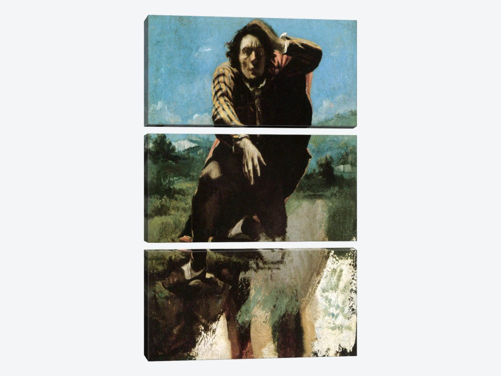 The Man Made Mad by Fear, 1844 by Gustave Courbet 3-piece Art Print