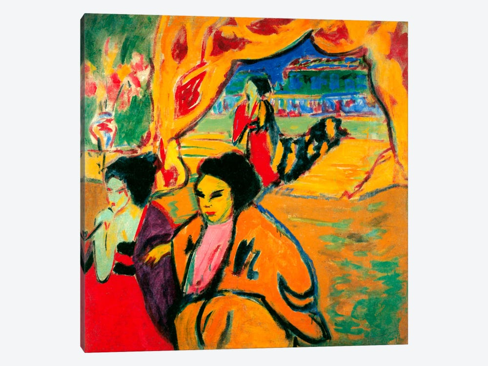 Japanese Theatre, 1909 by Ernst Ludwig Kirchner 1-piece Canvas Print
