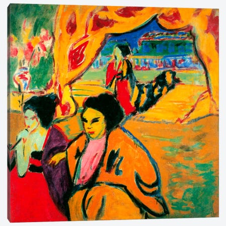 Japanese Theatre, 1909 Canvas Print #15259} by Ernst Ludwig Kirchner Canvas Print