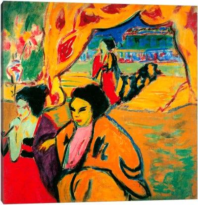Japanese Theatre, 1909 Canvas Art Print