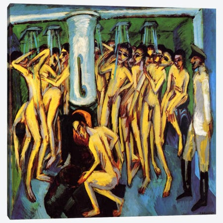 Artillery Men, 1909 Canvas Print #15260} by Ernst Ludwig Kirchner Canvas Artwork