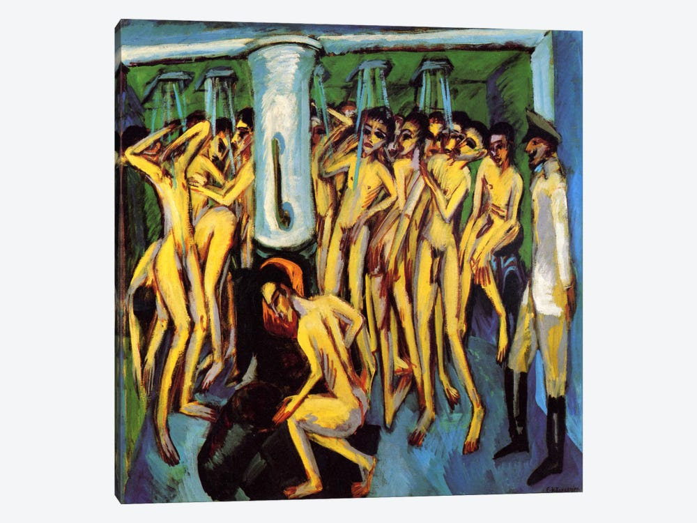 Artillery Men, 1909 by Ernst Ludwig Kirchner 1-piece Canvas Art Print