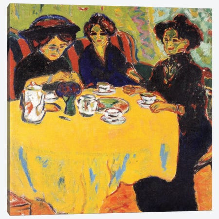 Coffee Drinking Women, 1907 Canvas Print #15263} by Ernst Ludwig Kirchner Canvas Art