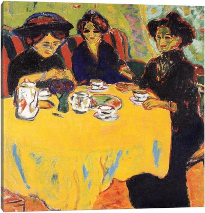 Coffee Drinking Women, 1907 Canvas Art Print