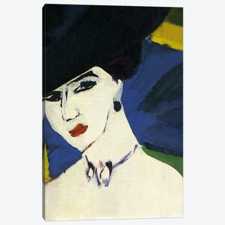 Female Nude with a Black Hat Canvas Print #15265} by Ernst Ludwig Kirchner Canvas Art Print