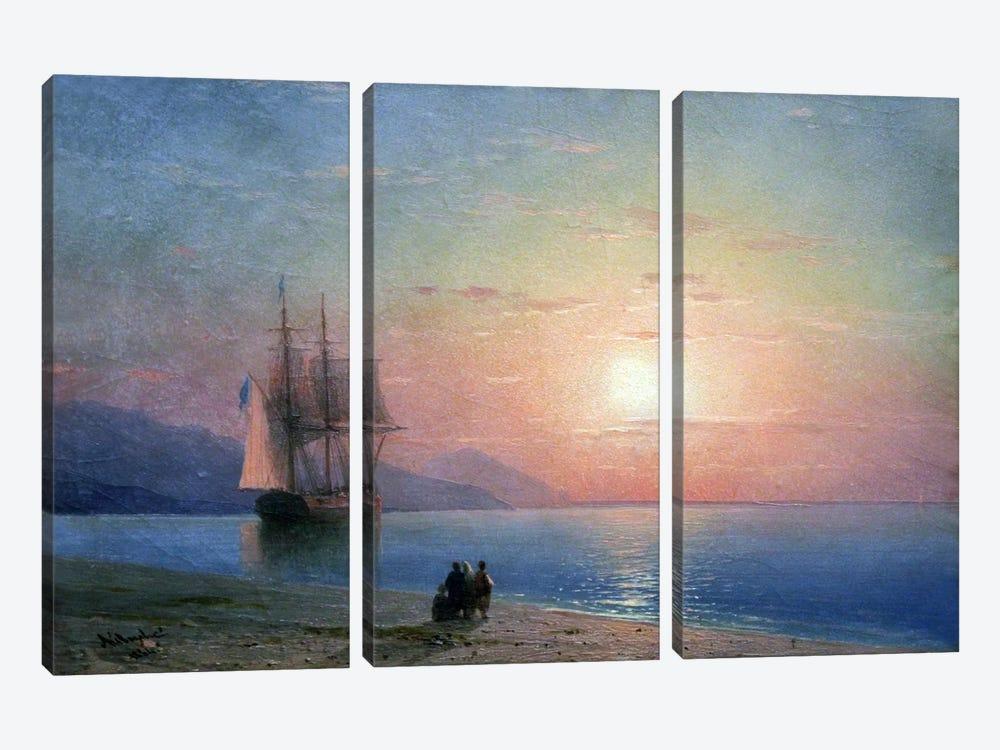 Meer Anagoria, 1864 by Ivan Aivazovsky 3-piece Art Print
