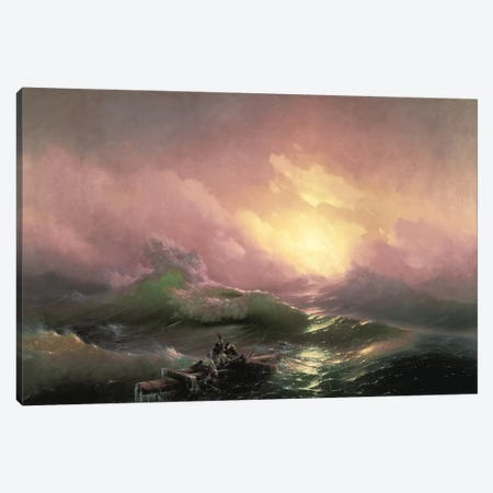 The Ninth Wave, 1850 Canvas Print #15268} by Ivan Aivazovsky Canvas Artwork