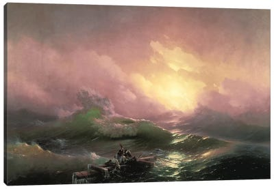 The Ninth Wave, 1850 Canvas Art Print