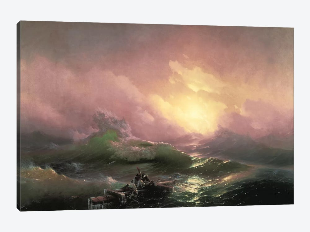 The Ninth Wave, 1850 by Ivan Aivazovsky 1-piece Canvas Print