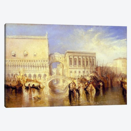 The Bridge of Sighs Canvas Print #15271} by J.M.W. Turner Art Print