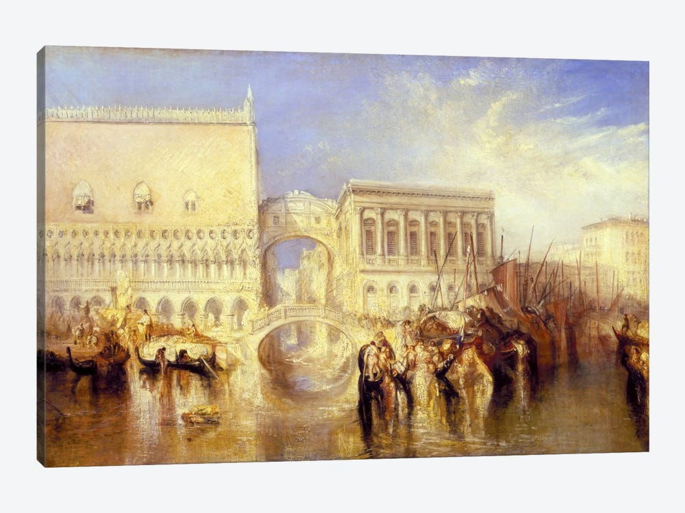 The Bridge of Sighs by J.M.W Turner 1-piece Canvas Art Print
