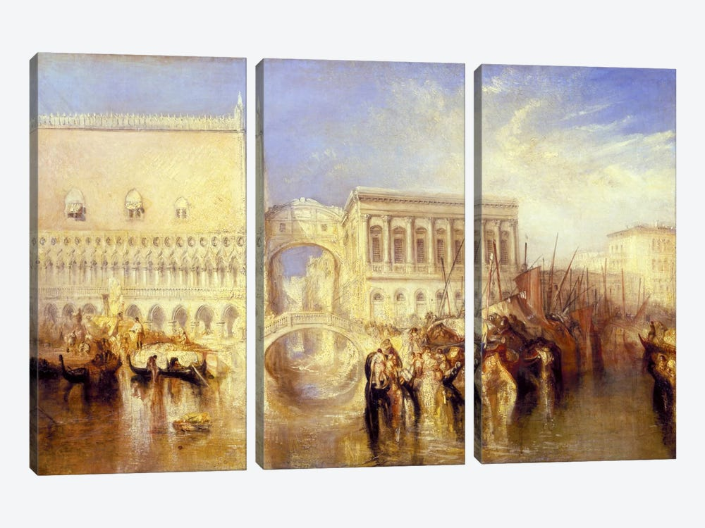 The Bridge of Sighs by J.M.W Turner 3-piece Canvas Print