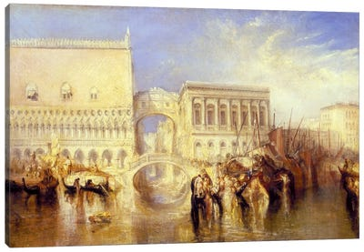 The Bridge of Sighs Canvas Art Print