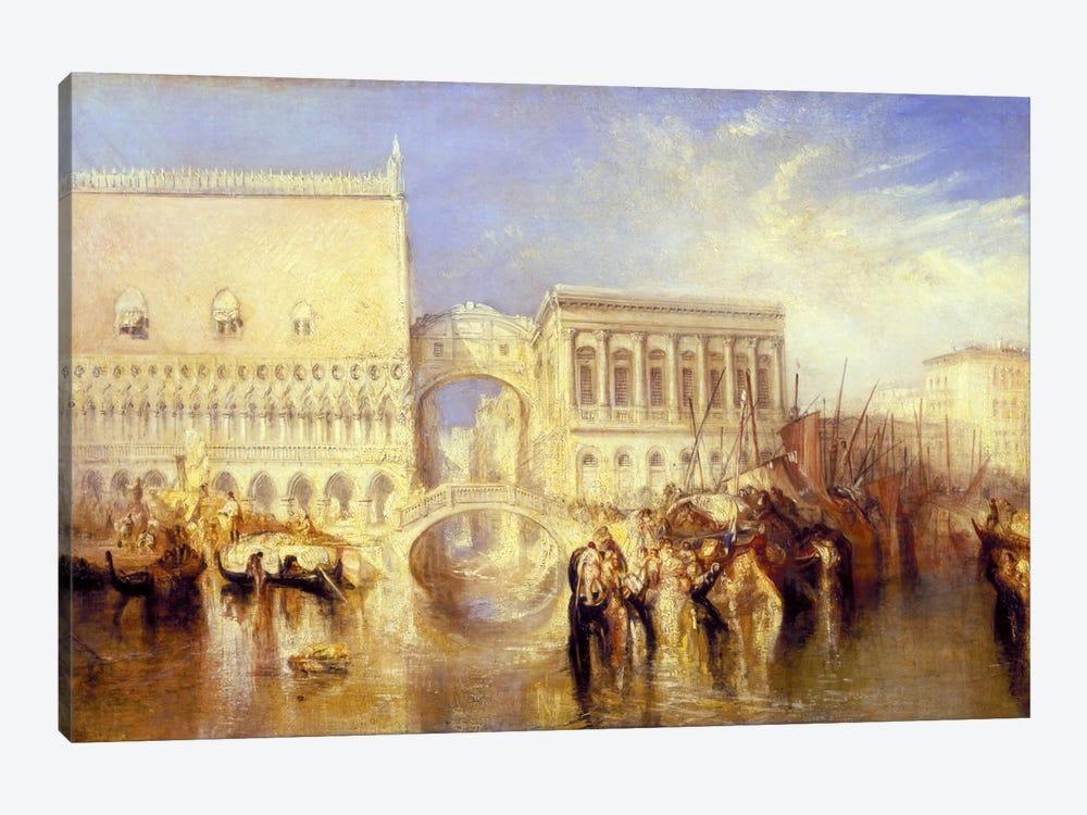 The Bridge of Sighs by J.M.W. Turner 1-piece Canvas Art Print