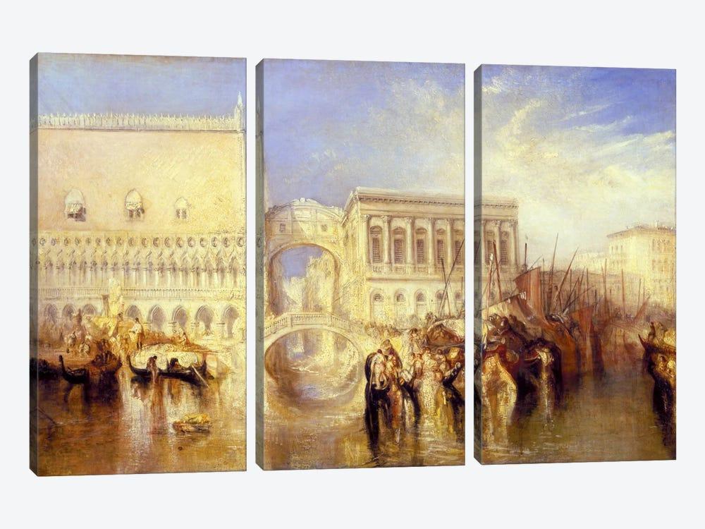 The Bridge of Sighs by J.M.W. Turner 3-piece Canvas Print