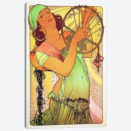 The Modern Stamped Salome Canvas Print #15279} by Alphonse Mucha Art Print