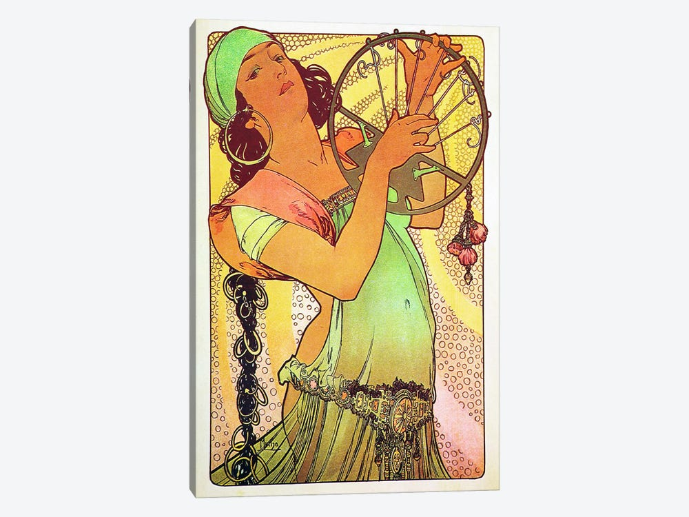 The Modern Stamped Salome by Alphonse Mucha 1-piece Canvas Art Print