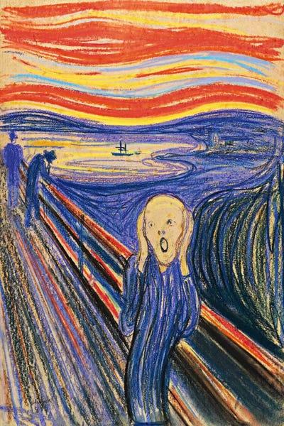 Edvard Munch,The Scream,Framed Prints,wall art prints,Hanging Canvas print,large wall art oversized,f438