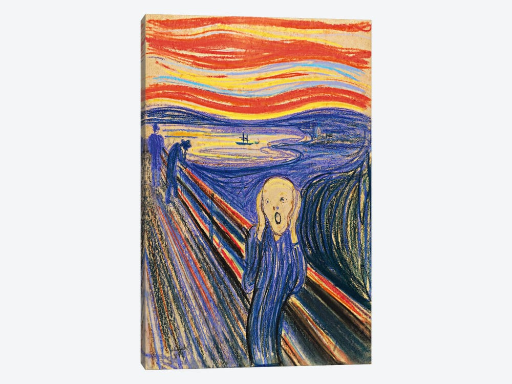 The Scream, 1893 by Edvard Munch 1-piece Canvas Wall Art